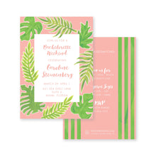 Load image into Gallery viewer, Weezie B. Designs | Watercolor Palm Bachelorette Invitation
