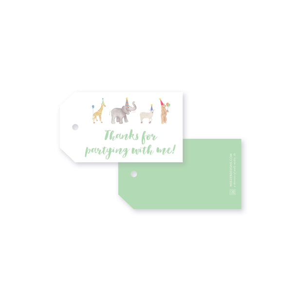 Party Animals Gift Tag