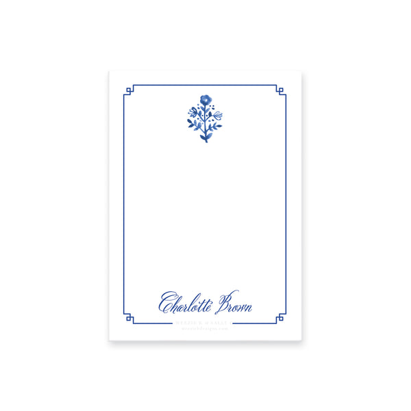 Delft Flowers Notepad