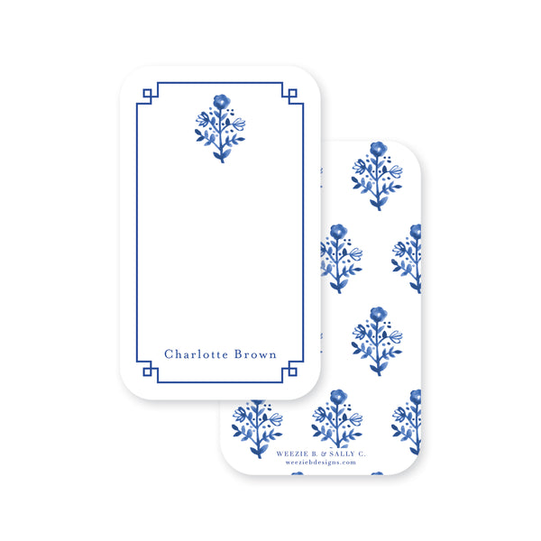 Delft Flowers Pocket Note