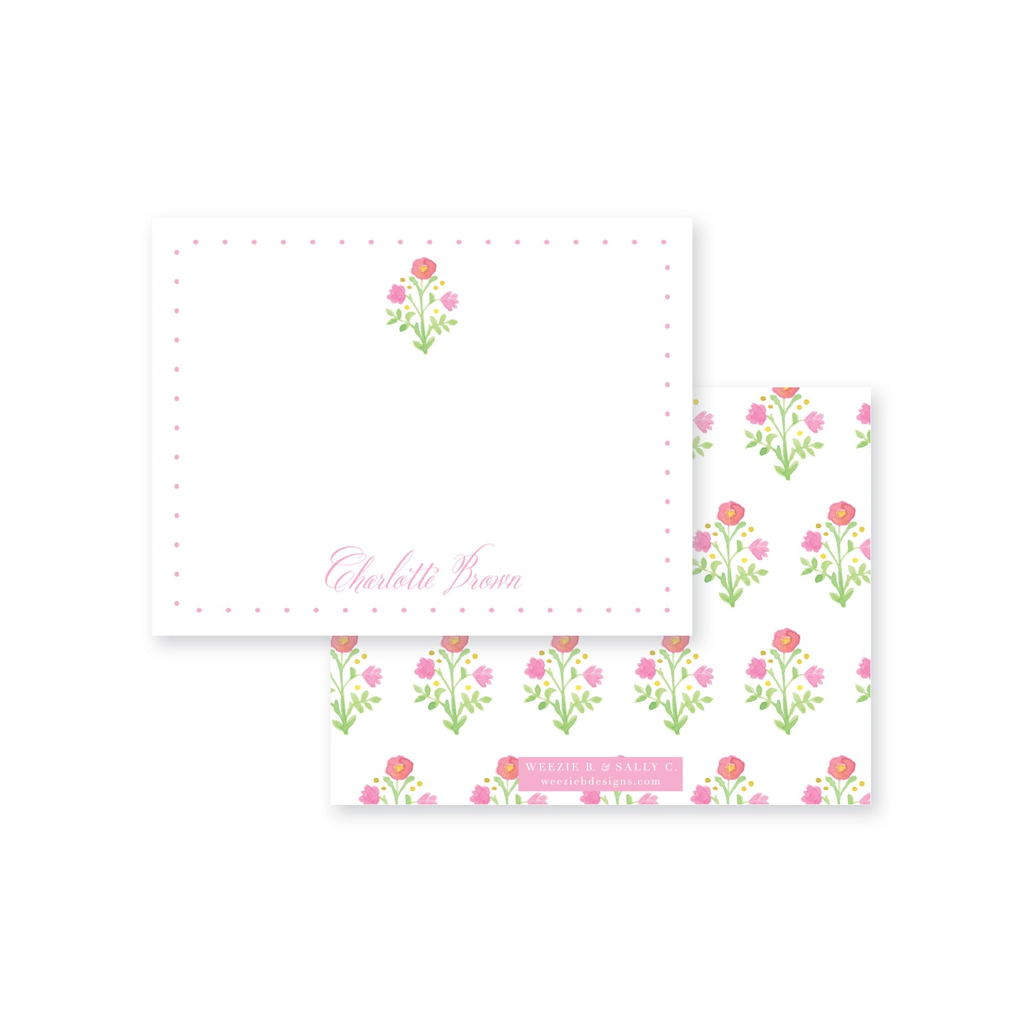 Prim Posey Flat Note Card