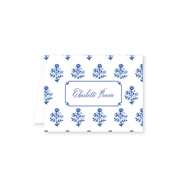 Delft Flowers Folded Note Card
