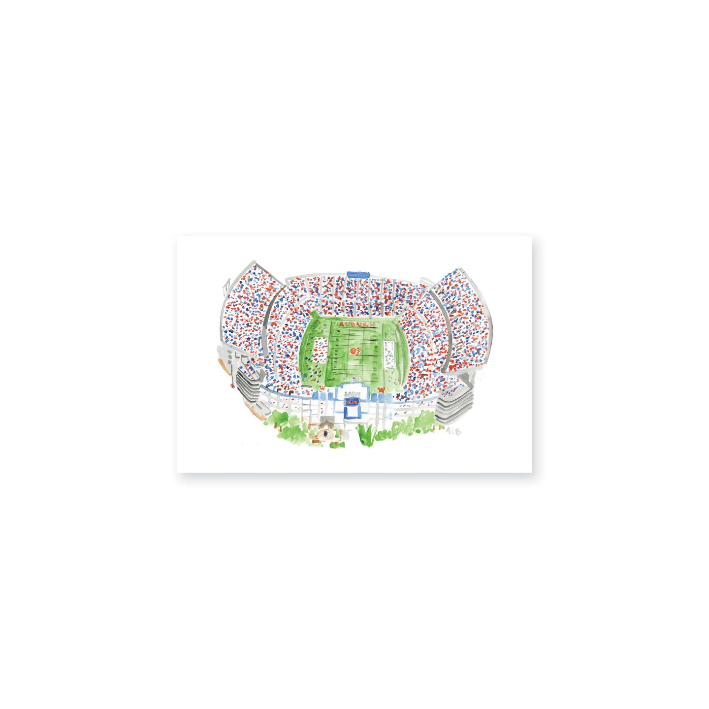 Weezie B. Designs | Jordan Hare Stadium Watercolor Art Print 6