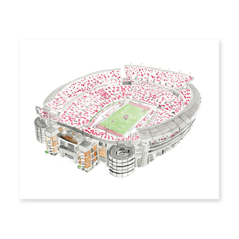 Weezie B. Designs | Bryant Denny Stadium Watercolor Art Print