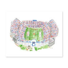 Load image into Gallery viewer, Weezie B. Designs | Jordan Hare Stadium Watercolor Art Print