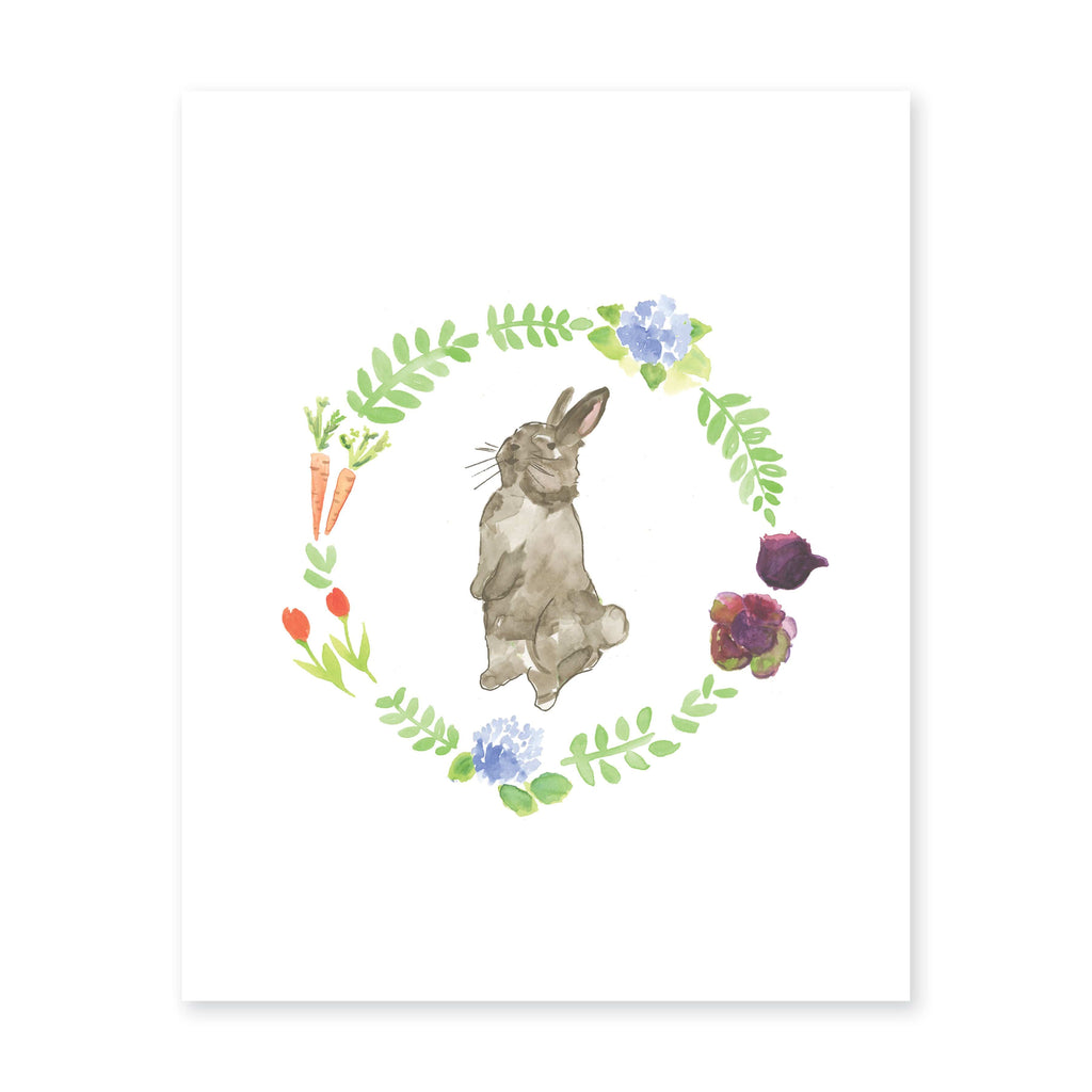 Weezie B. Designs | Bunny Watercolor Art Print