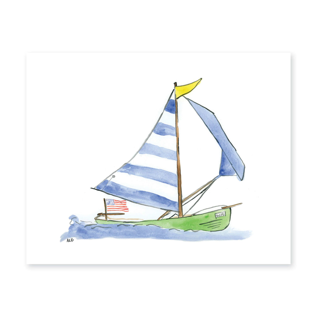 Weezie B. Designs | Sailboat Watercolor Art Print