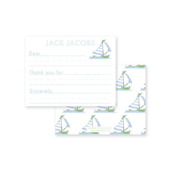 Sailing Away Fill-In Flat Note Card