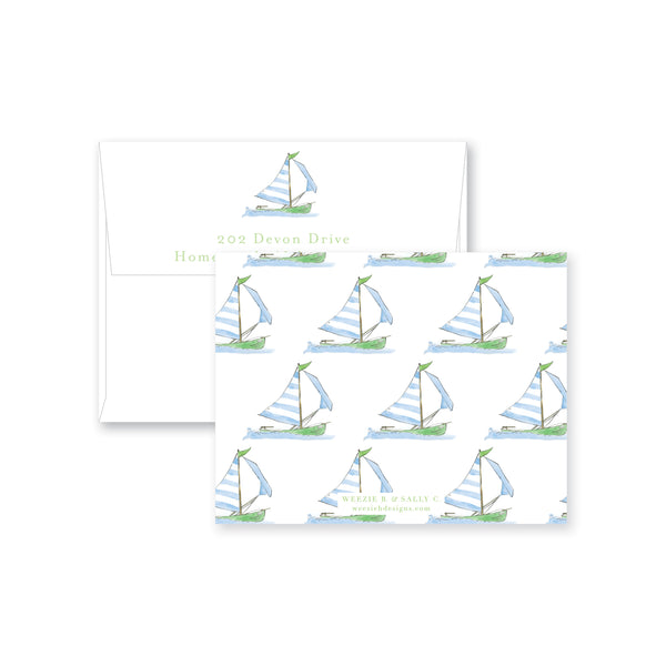 Sailing Away Flat Note Card