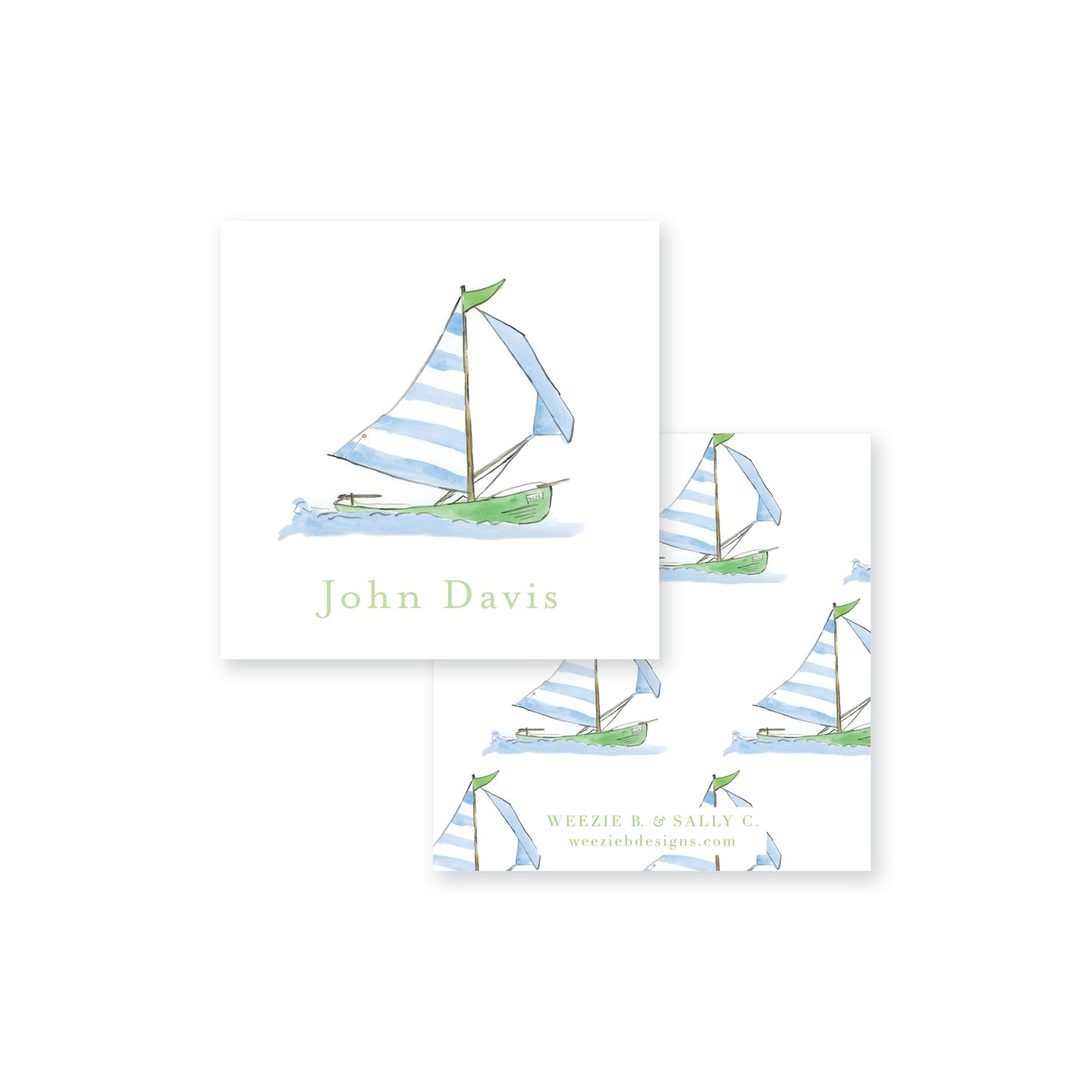 Sailing Away Calling Card