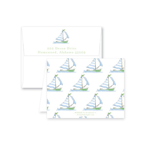 Sailing Away Folded Note Card