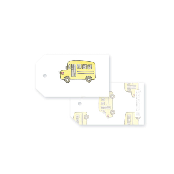 Watercolor School Bus (set of 6)