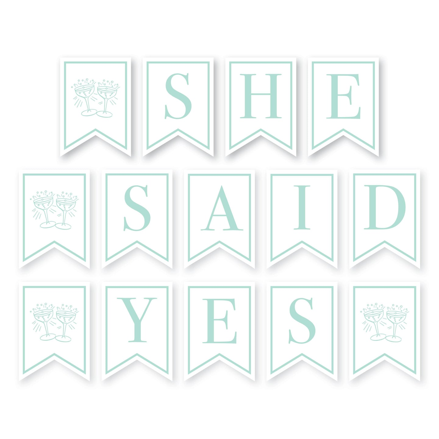 Weezie B. Designs | She Said Yes Banner