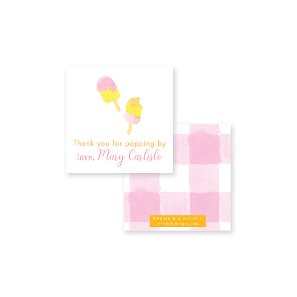 Popsicle Splish Splash Square Gift Tag