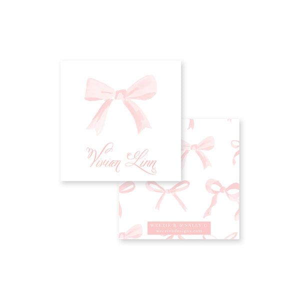 Bows In Watercolor Calling Card