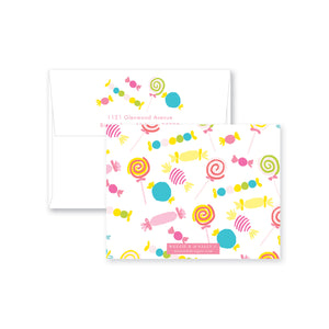 Candy Confetti Flat Note Card