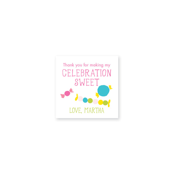 Candy Confetti Gift Stickers