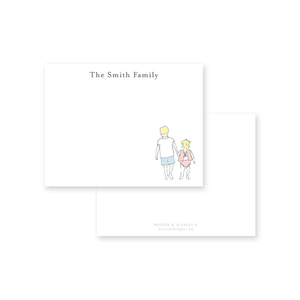Sweet Siblings Flat Note Card