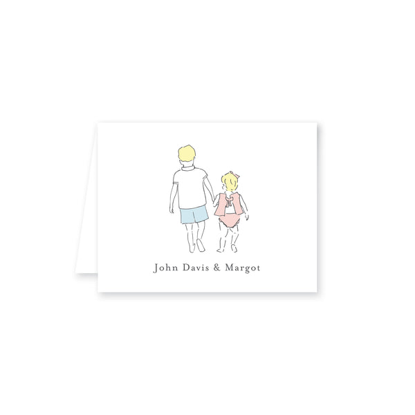 Sweet Siblings Folded Note Card