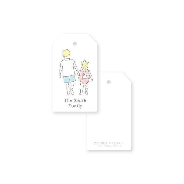 Sweet Siblings Gift Tag