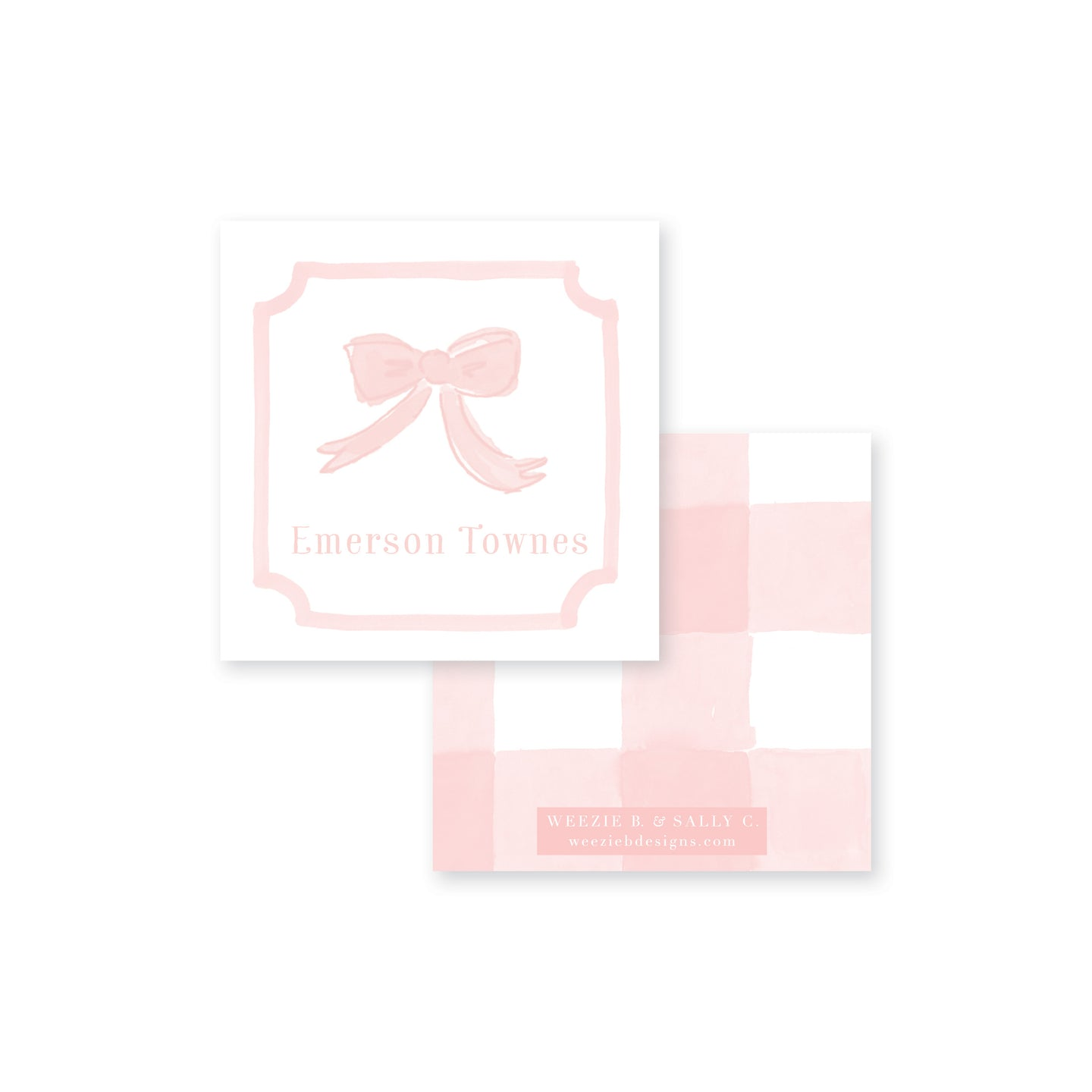 Sweet Watercolor Bow Calling Card