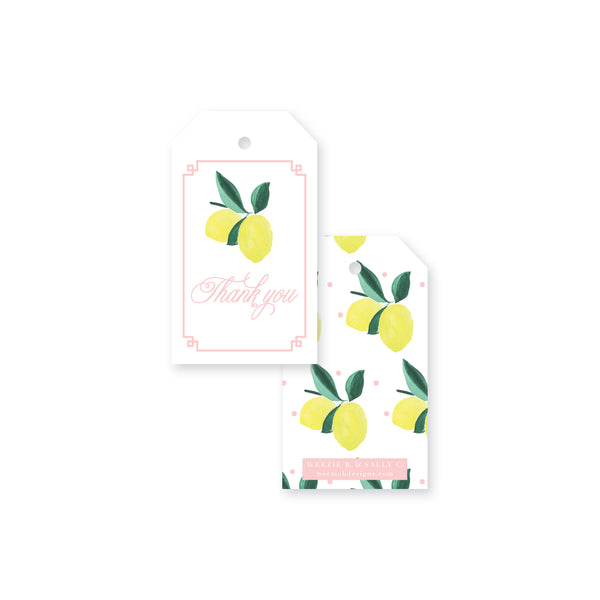 Lemon Polka Dot Gift Tag