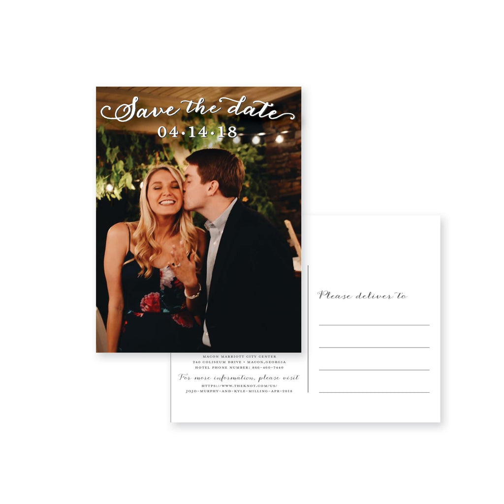 Weezie B. Designs | JoJo & Kyle Save the Date Photo Post Card
