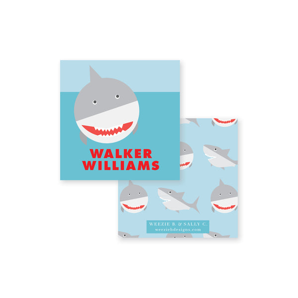 Weezie B. Designs | Watch Out for Sharks Calling Card
