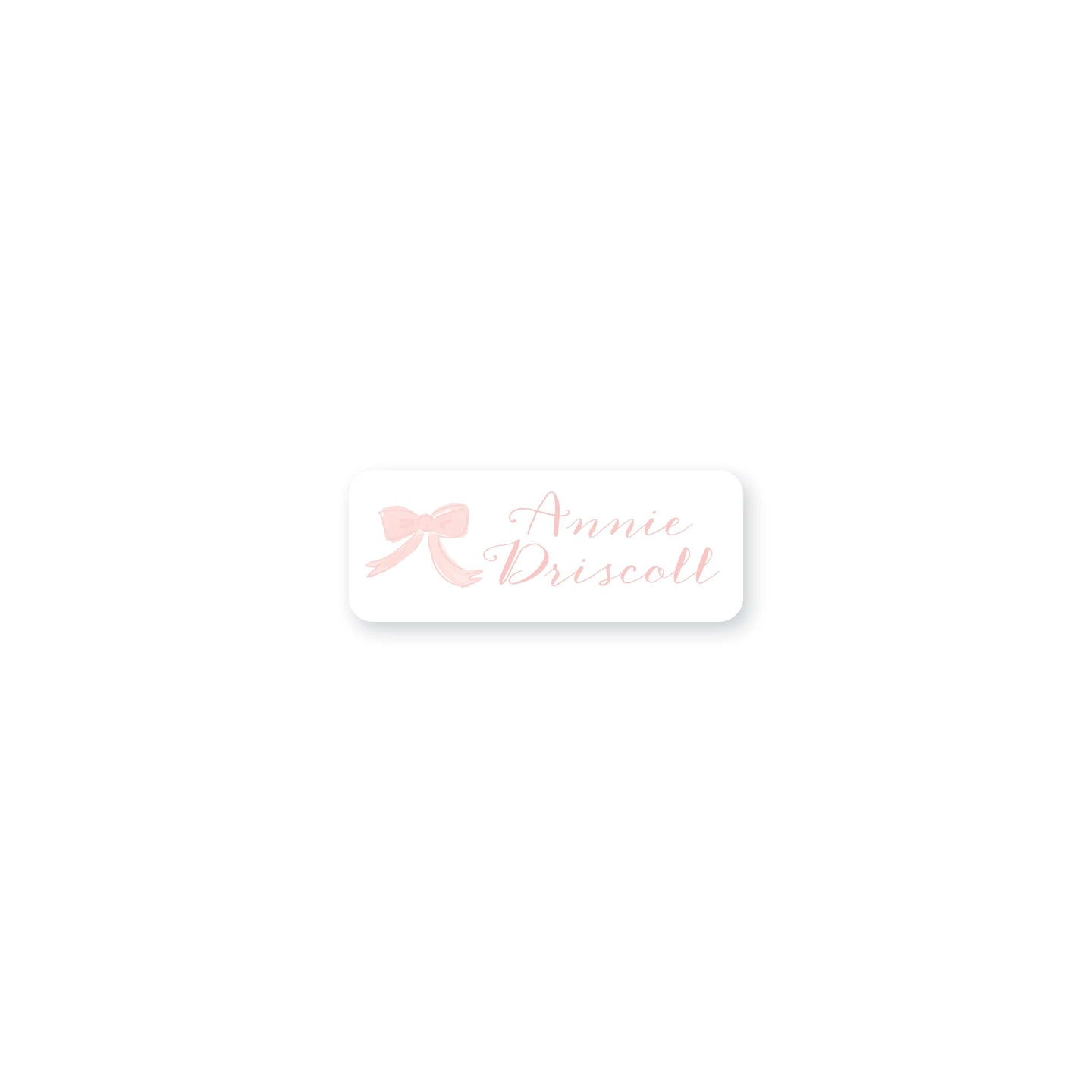 Weezie B. Designs | Watercolor Bow Permanent Sticker