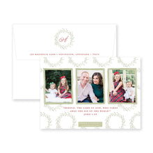 Load image into Gallery viewer, Whimsy Wreath Christmas Card