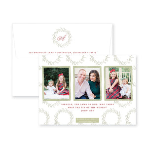 Whimsy Wreath Christmas Card