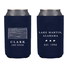 Load image into Gallery viewer, American Flag Sketch Koozie