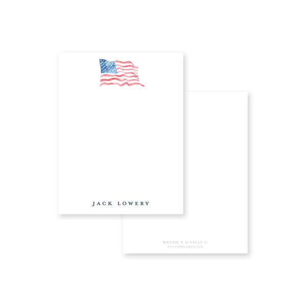 American Wave Flat Note Card