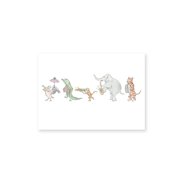 Animals On Parade Art Print