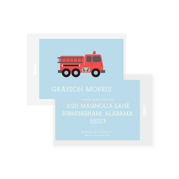 Sweet Firetruck Bag Tag