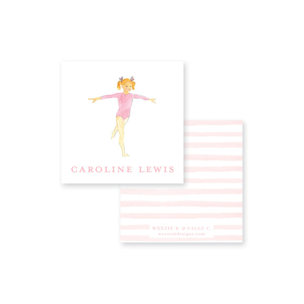 Gymnastics Dance Calling Card