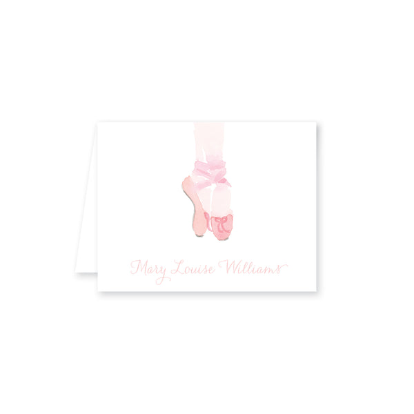 Ballet Watercolor Folded Note Card