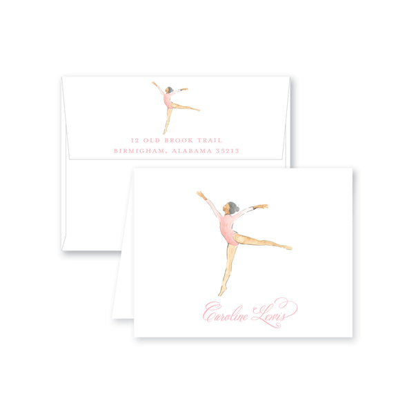 Gymnastics Dance Folded Note Card