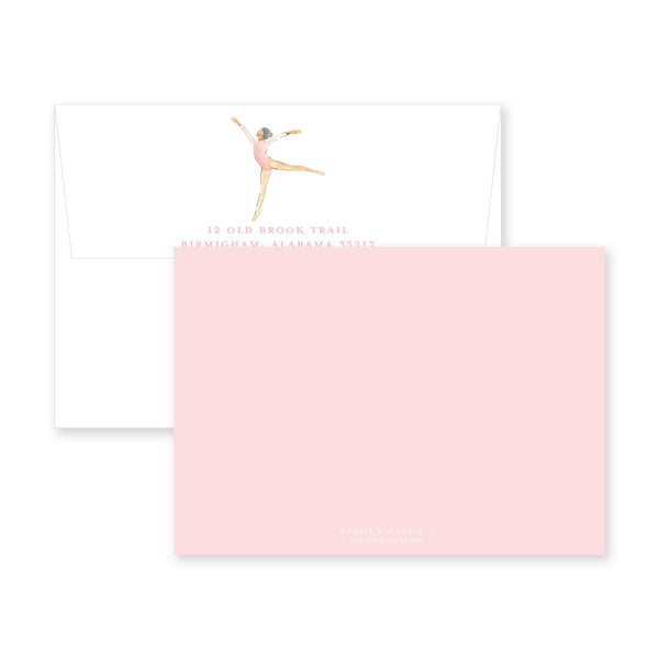 Gymnastics Dance Flat Note Card