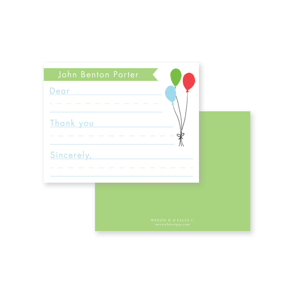 Celebrate Goods Times Fill-In Flat Note Card