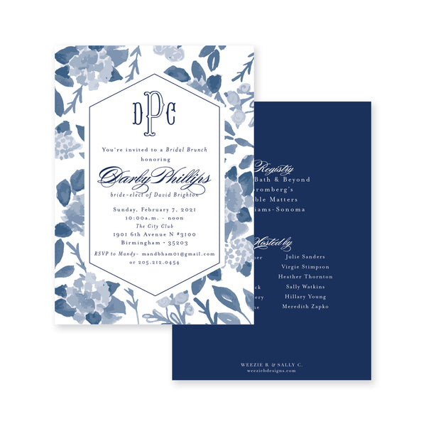 Blue Floral Bridal Shower