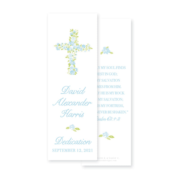 Watercolor Floral Cross Bookmark