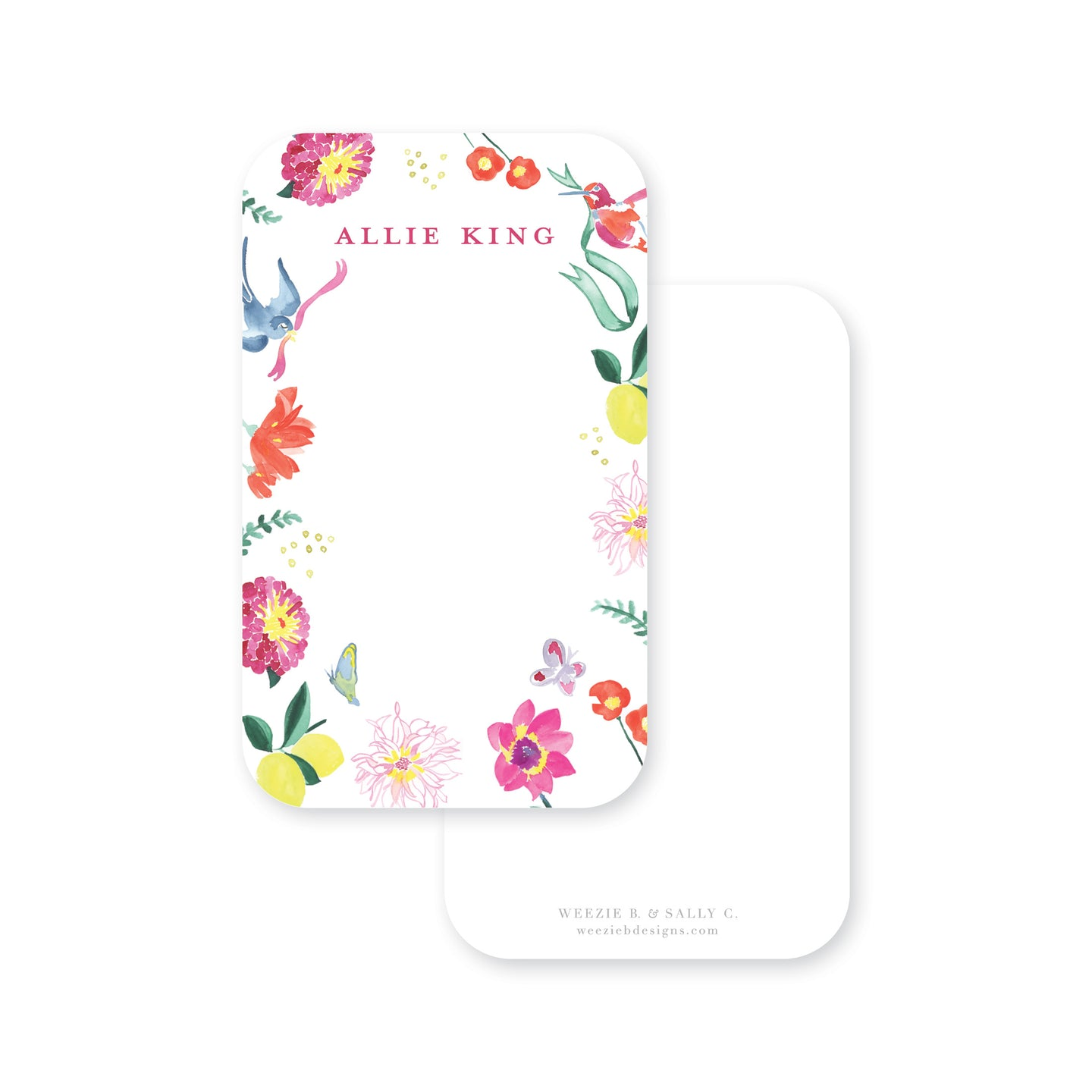 Butterfly Garden Pocket Note