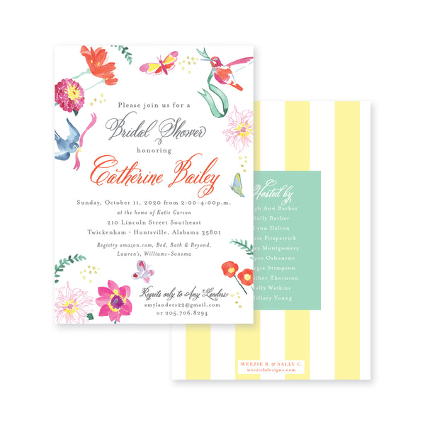 Butterfly Garden Bridal Shower