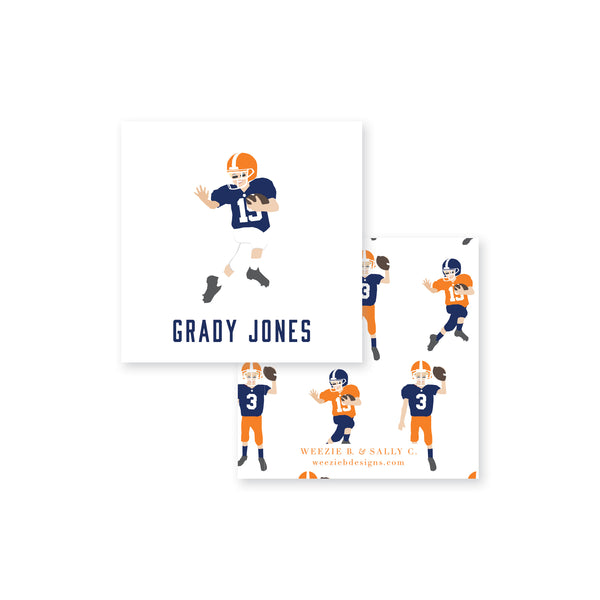 Weezie B. Designs Football Calling Card