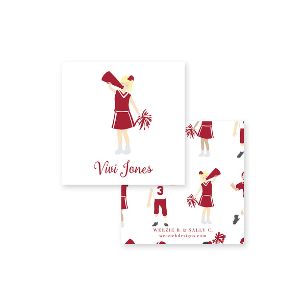 Weezie B. Designs Football Cheer Calling Cards