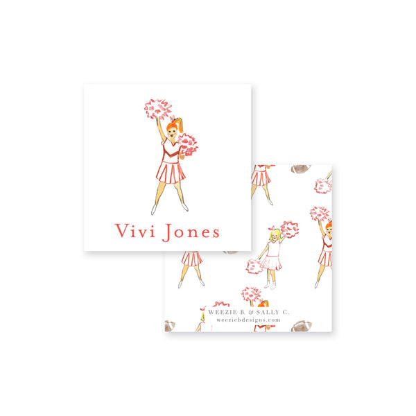 Cheer Watercolor Calling Card