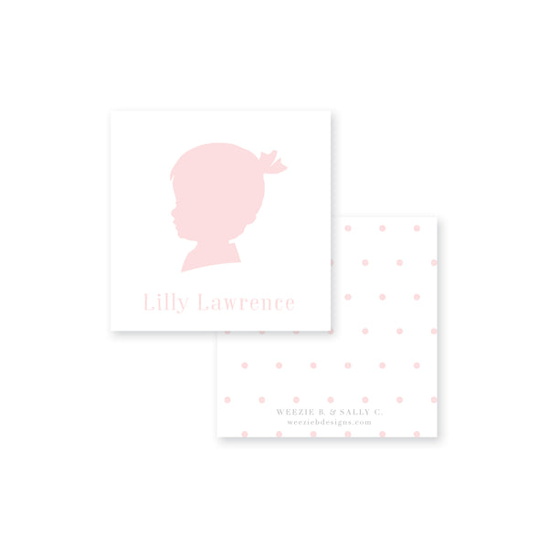 Sweet Silhouette Calling Card
