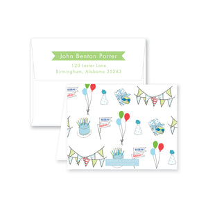 Celebrate Good Times Folded Note Card