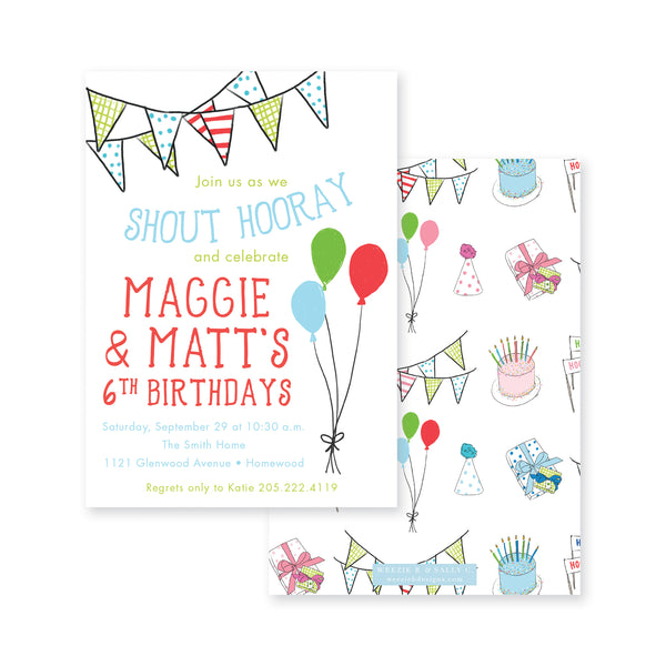 Celebrate Good Times Birthday Invitation